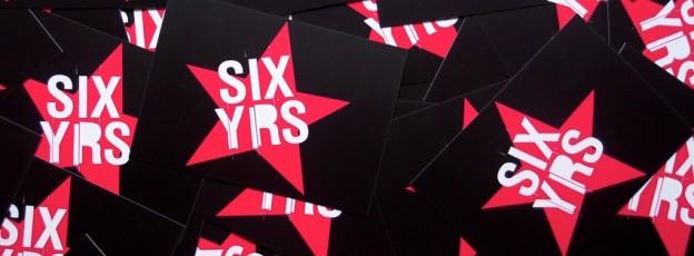 Einladungspostkarten zu #SIXYRS