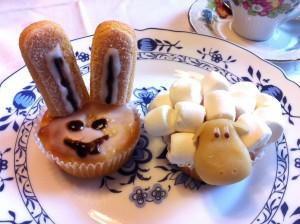 Muffins: Schaf und Osterhase